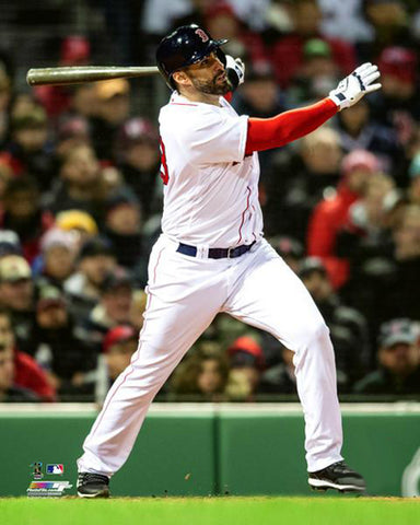 "JD Martinez ""Super Slugger"" Boston Red Sox Premium MLB Poster Print - Photofile 16x20"