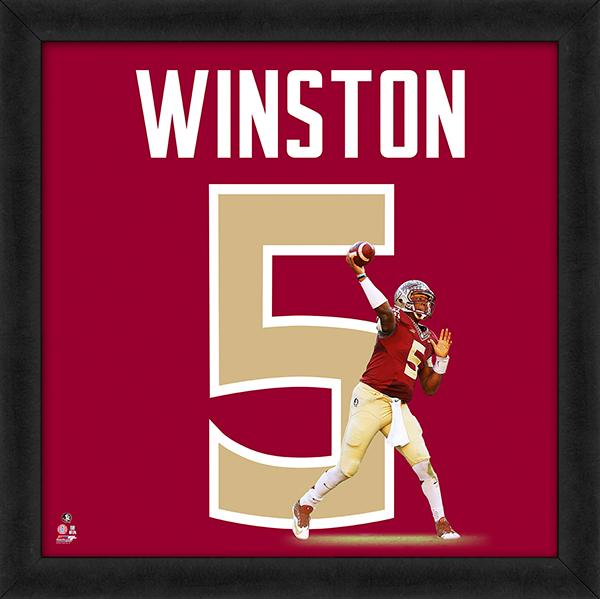 "Jameis Winston ""Number 5"" Florida State Seminoles NCAA FRAMED 20x20 UNIFRAME PRINT - Photofile"