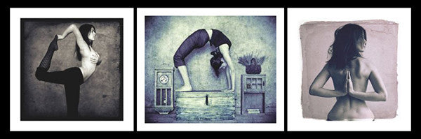 Yoga Self-Portraits by Gosia Janik Black-and-White Gallery Prints (3) - McGaw Graphics