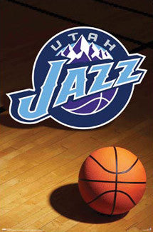 Utah Jazz Official NBA Team Logo Poster - Costacos Sports
