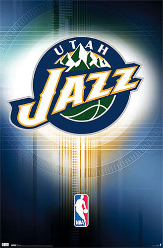 Utah Jazz Official NBA Logo Poster - Costacos Sports