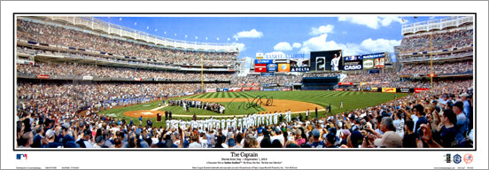 "Derek Jeter ""The Captain"" Panoramic Poster Print (Jeter Day at Yankee Stadium 9/7/2014)"
