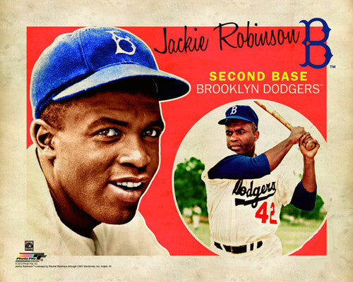 "Jackie Robinson ""Retro SuperCard"" Brooklyn Dodgers Poster - Photofile 16x20"