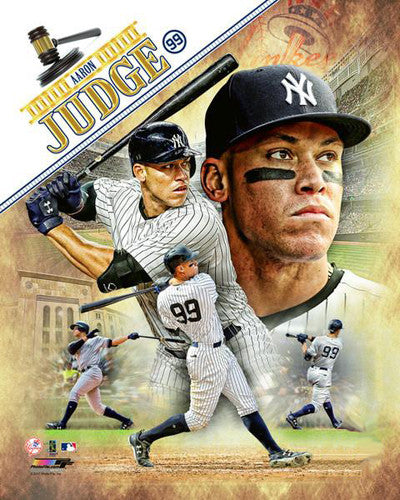 "Aaron Judge ""The Gavel"" New York Yankees Premium Action Portrait Poster Print - Photofile 16x20"