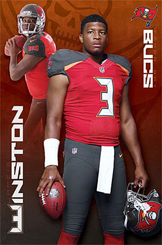 "Jameis Winston ""Superstar"" Tampa Bay Bucs Official NFL Football Poster - Trends International"