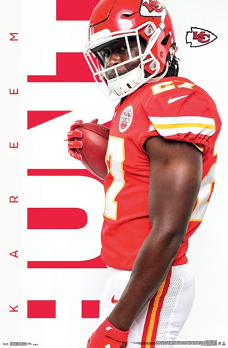 "Kareem Hunt ""Big Red"" Kansas City Chiefs Official NFL Football Wall Poster - Trends International"