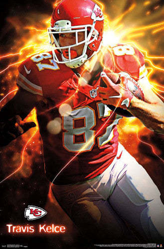 "Travis Kelce ""Red Hot"" Kansas City Chiefs Official NFL Football Wall Poster - Trends International"