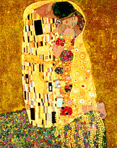 Der Kuss (The Kiss) by Gustav Klimt 16x20 Art Print - Eurographics