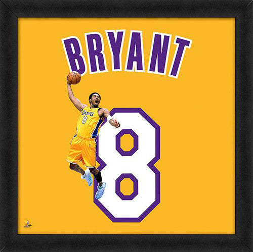 "Kobe Bryant ""Young Number 8"" Los Angeles Lakers FRAMED 20x20 UNIFRAME PRINT - Photofile"