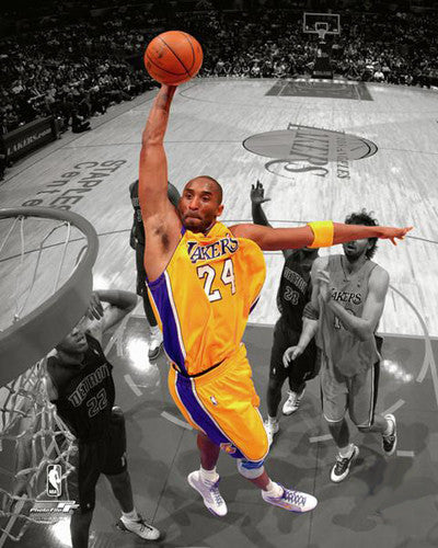 "Kobe Bryant ""Spotlight"" (2009) L.A. Lakers Slam Dunk Premium NBA Poster Print - Photofile"