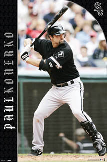 "Paul Konerko ""Slugger"" Chicago White Sox Poster - Costacos 2007"