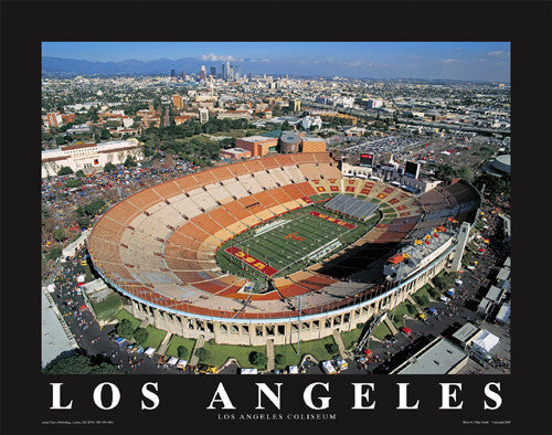 "Los Angeles Memorial Coliseum USC Trojans Football ""From Above"" Poster - Aerial Views Inc."