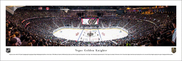 Vegas Golden Knights T-Mobile Arena Inaugural Game Panoramic Poster (2017) - Blakeway Worldwide