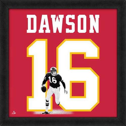 "Len Dawson ""Number 16"" Kansas City Chiefs NFL FRAMED 20x20 UNIFRAME PRINT - Photofile"