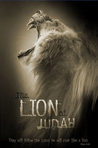 The Lion of Judah (Hosea 11:10) Biblical Inspirational Poster - Slingshot Publishing