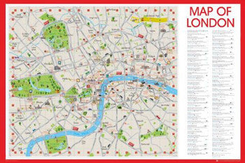 Illustrated Wall Map of London, England - GB Eye Ltd.