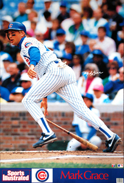 "Mark Grace ""Extra Bases"" Chicago Cubs Poster - Marketcom Sports Illustrated 1991"
