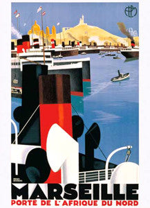 Marseille (1928) Vintage Travel Poster by Roger Broders - Eurographics