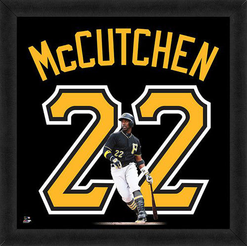 "Andrew McCutchen ""Number 22"" Pittsburgh Pirates FRAMED 20x20 UNIFRAME PRINT - Photofile"
