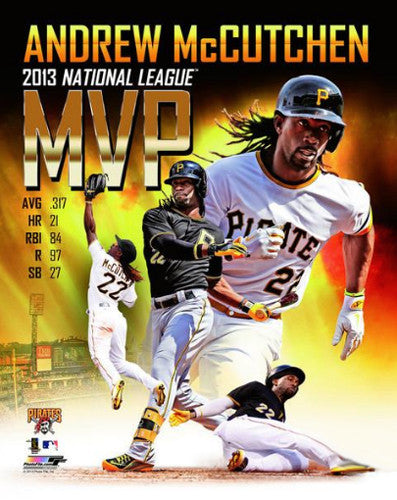 Andrew McCutchen 2013 National League MVP Commemorative Premium Poster - Photofile 16x20