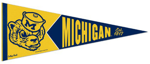 Michigan Wolverines NCAA College Vault 1950s-Style Premium Felt Collector's Pennant - Wincraft Inc.
