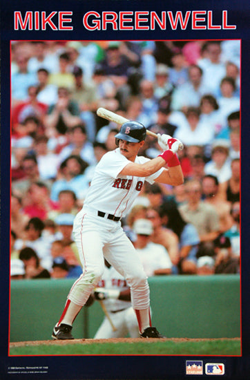 Mike Greenwell Classic Boston Red Sox MLB Action Poster - Starline Inc. 1988