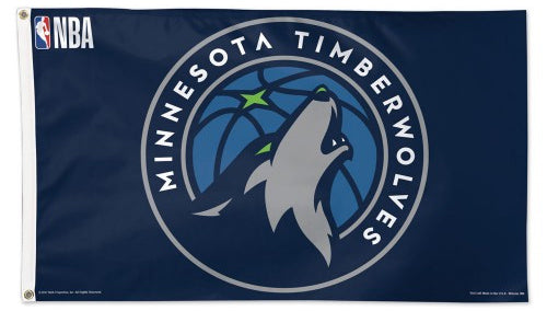 Minnesota Timberwolves Official NBA Basketball Team DELUXE-EDITION 3'x5' Flag - Wincraft Inc.