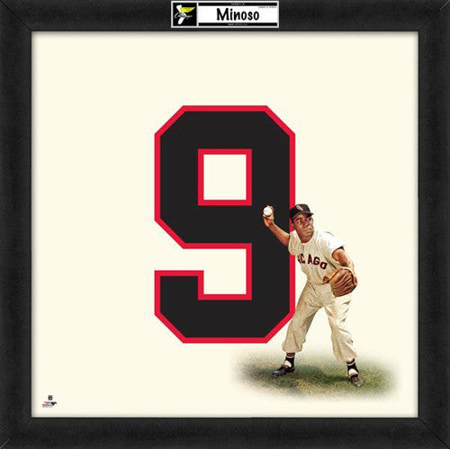 "Minnie Minoso ""Number 9"" Chicago White Sox MLB FRAMED 20x20 UNIFRAME PRINT - Photofile"