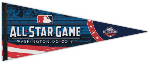 MLB Baseball All-Star Game 2018 (Washington, DC) Official Premium Felt Commemorative Pennant - Wincraft