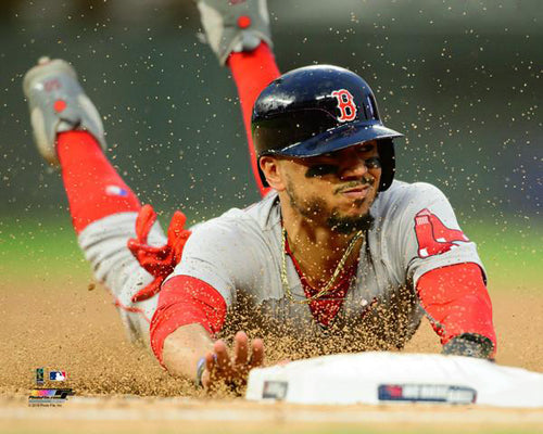 "Mookie Betts ""Head-First"" Boston Red Sox Premium MLB Poster Print - Photofile 16x20"