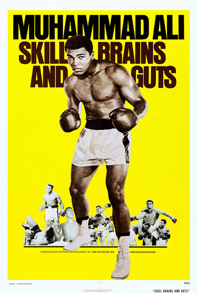 "Muhammad Ali ""Skill Brains and Guts"" (1975) Boxing Movie Poster Reprint - Eurographics Inc."