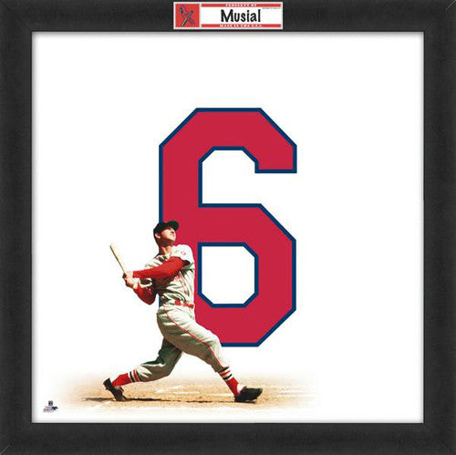 "Stan Musial ""Number 6"" St. Louis Cardinals MLB FRAMED 20x20 UNIFRAME PRINT - Photofile"