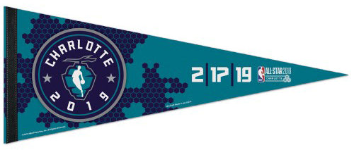NBA All-Star Game 2019 Charlotte Premium Felt Collector's Pennant - Wincraft Inc.