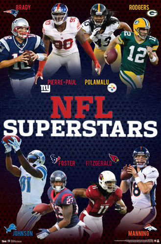 NFL Superstars 2012 Football Action Poster (8 Players) - Costacos Sports