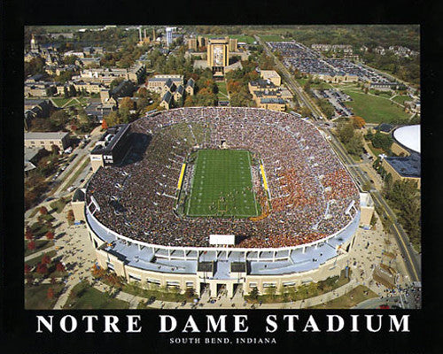 "Notre Dame Stadium ""From Above"" Premium Poster Print - Aerial Views Inc."