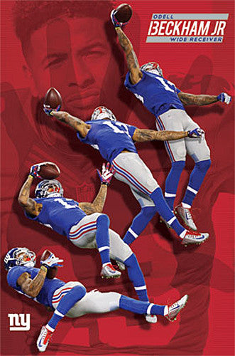 "Odell Beckham Jr. ""Multi-Action"" Miracle Catch New York Giants Poster - Trends International"