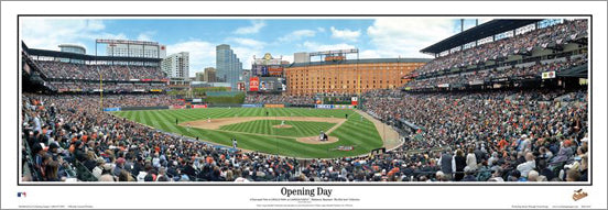 "Oriole Park at Camden Yards ""Opening Day"" Baltimore Orioles Panoramic Poster - Everlasting 2010"