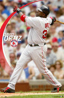 "David Ortiz ""Long Bomb"" Boston Red Sox Poster - Costacos 2006"