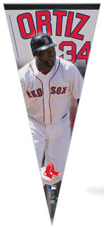 "David Ortiz ""Big-Time"" EXTRA-LARGE Premium Felt Pennant - Wincraft"
