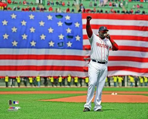 "David Ortiz ""Boston Strong"" (2013 Rally Speech) Boston Red Sox Premium Poster Print - Photofile"