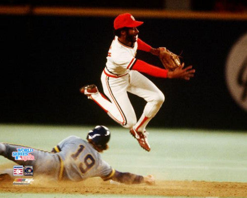 Ozzie Smith 1982 World Series Classic St. Louis Cardinals Premium Poster Print - Photofile