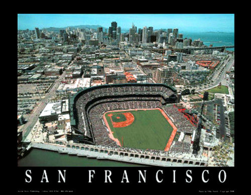 "San Francisco Giants AT&T Park ""From Above"" Poster Print - Aerial Views Inc."