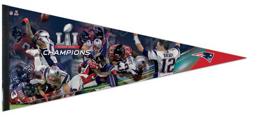 New England Patriots Super Bowl LI MOMENTS Premium XL Felt Collector's PENNANT