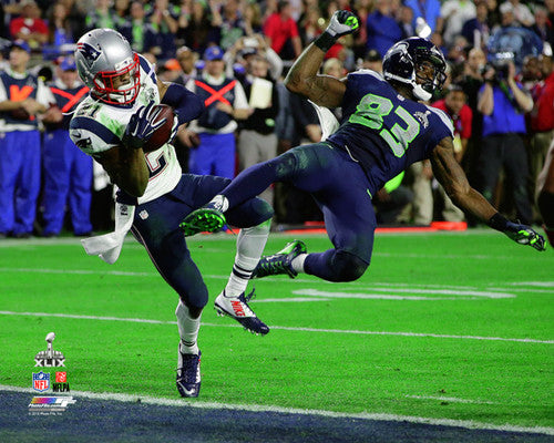 "New England Patriots ""The Interception"" (Malcolm Butler) Super Bowl XLIX Premium Poster - Photofile"