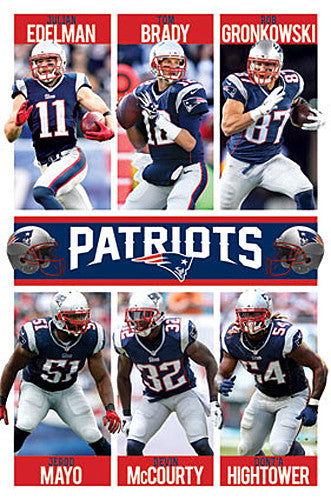 New England Patriots Superstars 2015 Poster (Brady, Gronk, Mayo, Hightower, ++) - Trends Int'l.