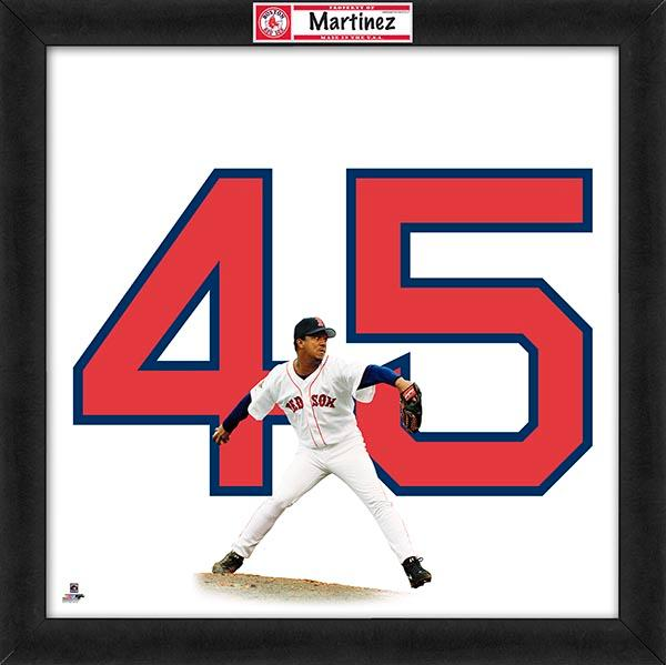 "Pedro Martinez ""Number 45"" Boston Red Sox FRAMED 20x20 UNIFRAME PRINT - Photofile"