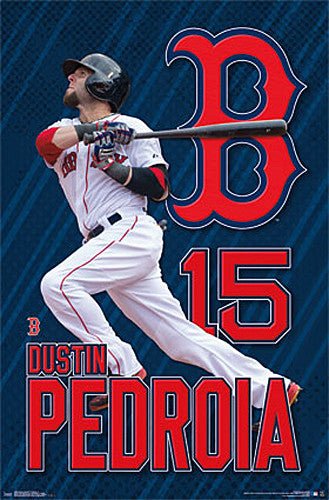 "Dustin Pedroia ""Blast"" Boston Red Sox MLB Baseball Action Poster - Trends International"