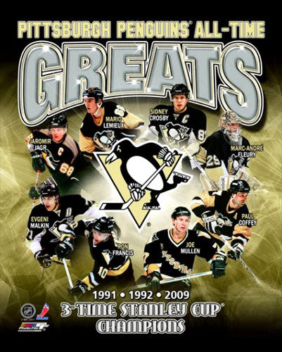 "Pittsburgh Penguins ""All-Time Greats"" (8 Legends) - Photofile Inc."