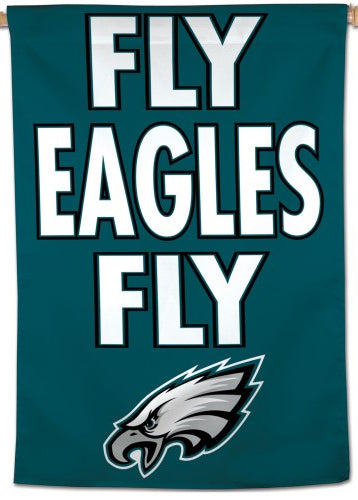 Philadelphia Eagles FLY EAGLES FLY Official NFL Football Team Logo Motto Wall BANNER - Wincraft Inc.