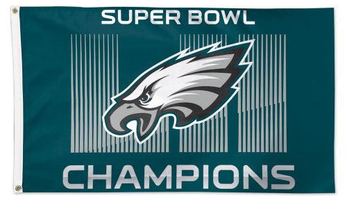 Philadelphia Eagles Super Bowl LII Champions Official NFL Football Deluxe-Edition 3'x5' Flag - Wincraft Inc.